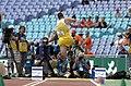 231000 - Athletics field pentathlon Wayne Bell long jump action 4 - 3b - 2000 Sydney event photo.jpg