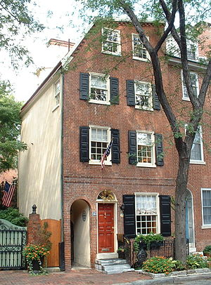 Cassey House - The Cassey House at 243 Delancey Street in Philadelphia, Pennsylvania