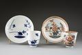 2 Koppar med fat. Före och efter dekoration - Hallwylska museet - 87177.tif