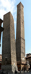 The famous Two Towers of Bologna.