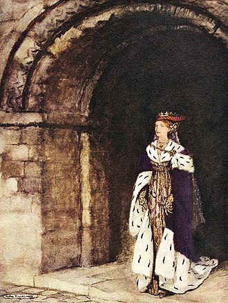 Lynette and Lyonesse - Lionesse by Arthur Rackham for Alfred W. Pollard's The Romance of King Arthur and His Knights of the Round Table (1917)