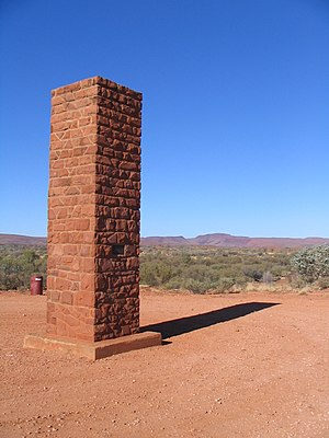 Hermannsburg, Northern Territory - Albert Namatjira monument, Hermannsburg, NT