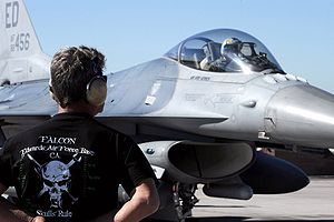 416th Flight Test Squadron - A F-16 from the 416 FLTS participates in a Red Flag Exercise at Nellis Air Force Base in February 2009.