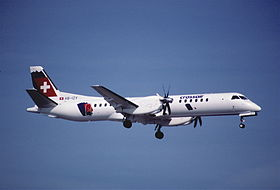 52bt - Crossair Saab 2000; HB-IZY@ZRH;27.02.1999 (5256723191).jpg