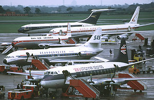 Manchester Airport - Apron view in 1972