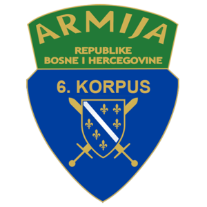 6th Corps of the Army of the Republic of Bosnia and Herzegovina - 6th Corps Patch