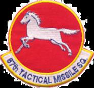 87th Tactical Missile Squadron - Emblerm