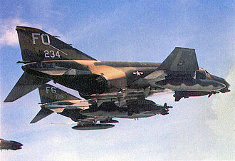 Ubon Royal Thai Air Force Base - McDonnell F-4D-29-MC Phantom II, AF Ser. No. 66-0234 of the 435th Tactical Fighter Squadron with laser-guided bombs on a mission north. This aircraft survived the war and was eventually sent to AMARC as FP314 for storage on 29 Sep 1989