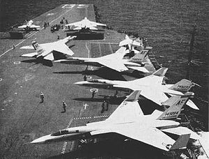 North American A-5 Vigilante - A-5As of VAH-7 on USS Enterprise in 1962.