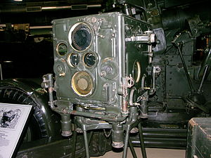 Director (military) - A Number 1 Mark III Predictor used with the QF 3.7 inch AA gun. South African National Museum of Military History, Johannesburg