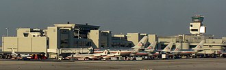 Miami International Airport - American Airlines planes at Concourse D