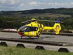 ADAC Rallye Deutschland 2012 414 Arena Panzerplatte - Eurocopter EC135 D-HOPI ADAC.jpg