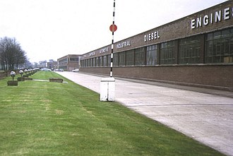 Associated Equipment Company - AEC Southall Works from the north, 1973