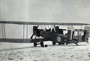 AEG G.IV - A captured AEG G.IVk in British markings, Bickendorf, 1919