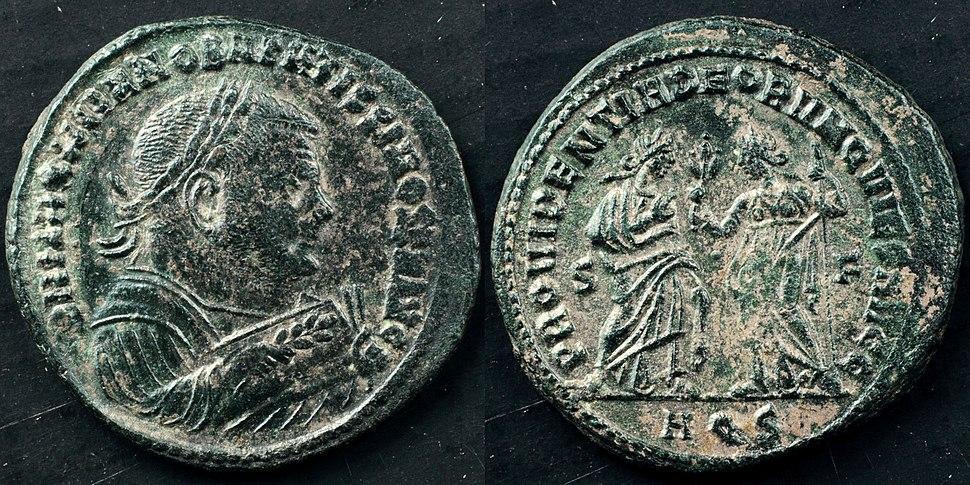 AE silvered follis of Maximianus