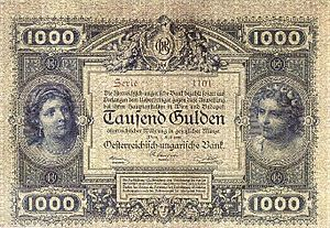 Austro-Hungarian gulden - Image: AHG 1000 1880 obverse
