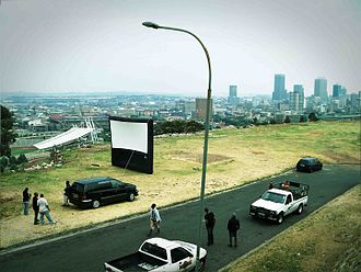 Cinema of South Africa - Open-Air-Cinema in Johannesburg.