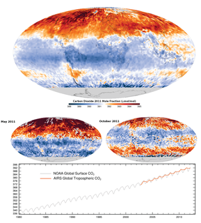 Carbon dioxide in Earths atmosphere Atmospheric constituent; greenhouse gas