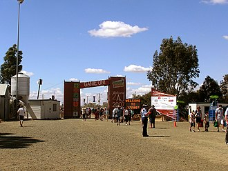 Australian Scout Jamboree - Entrance to AJ2007 on open day - 7 January 2007