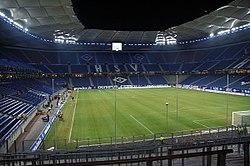 Spielstätte des Hamburger SV, die HSH Nordbank Arena – früher bekannt als das Volksparkstadion oder AOL Arena