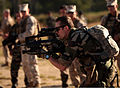 A French marine with the 3rd Marine Regiment participates in a live-fire demonstration with U.S. Marines with Security Cooperation Task Force Africa Partnership Station 2012 at Camp de Meucon in Brittany 120724-M-JU449-737.jpg