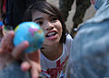 A child at a Shepherd of the Hills Children's Foundation home in San Antonio, Philippines, thanks U.S. Army Capt. Leslie Waddle, a member of a joint civil-military operations task force supporting exercise 130323-N-VN372-378.jpg
