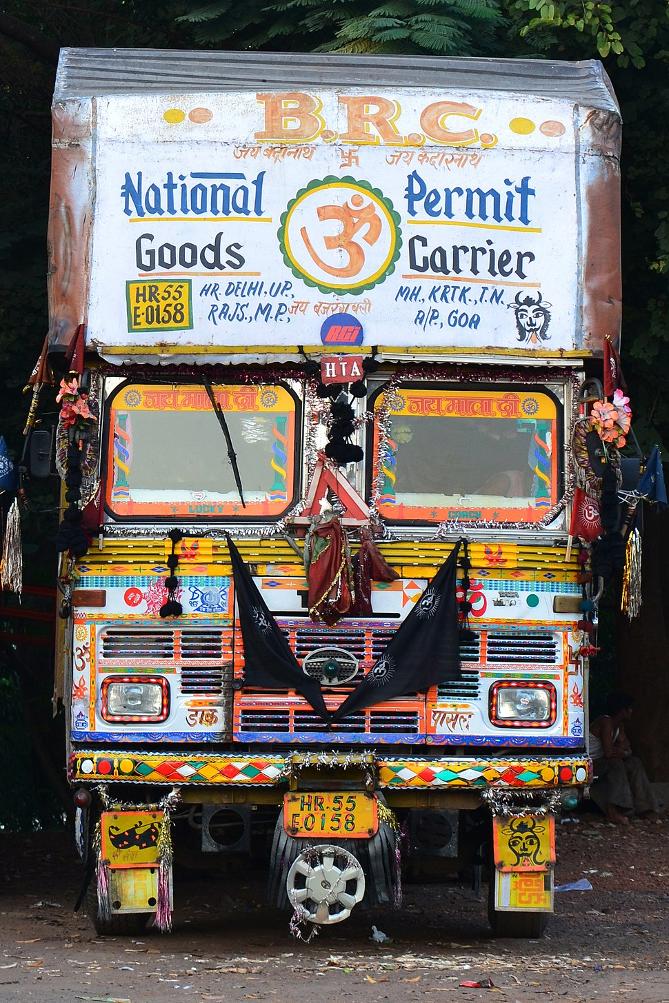 A decorated truck in India.jpg