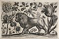 A handsome lion surrounded by various flowers and insects. E Wellcome V0044038.jpg