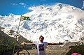 A message of peace - National flag of Pakistan in front of Nanga Parbat aka The killer mountain.jpg