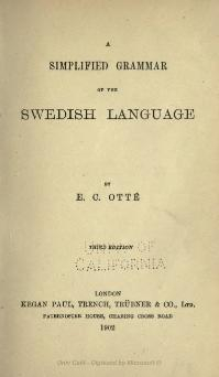 A simplified grammar of the Swedish language.djvu