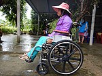 A women sitting on a wheelchair provided by the project (29222068454).jpg