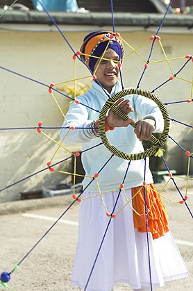 A young boy practising, Gatka, SIkh martial art.jpg