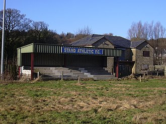 Stand Athletic F.C. - The club's overgrown ground in January 2009.