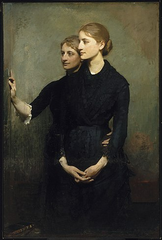 Abbott Handerson Thayer - The Sisters, 1884, oil on canvas. Brooklyn Museum