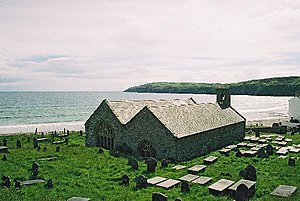 R. S. Thomas - St Hywyn's Church in Aberdaron where Thomas was vicar from 1967 to 1978