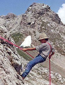 Спуск з гори методом дюльфера