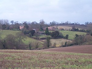 Acton Beauchamp - Image: Acton Beauchamp Church and Church House Farm geograph.org.uk 107000