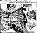 Actor Richard Mansfield lectures to women in St. Louis, 1906 (drawn by Marguerite Martyn).jpg