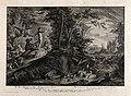 Adam overlooks the Garden of Eden. Etching by J.E. Ridinger Wellcome V0034425.jpg