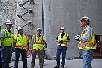 Addicks and Barker dams project team visits Folsom Dam auxiliary spillway (15095131667).jpg