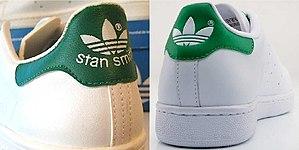 Adidas Stan Smith - Image: Adidas Stan Smith, heels