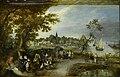 Adriaen Pietersz. van de Venne - Landschap met figuren en een dorpskermis (Rijksmuseum).jpg