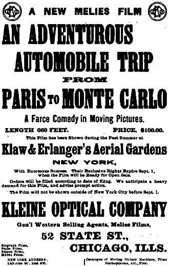 An Adventurous Automobile Trip - American newspaper advertisement for the film