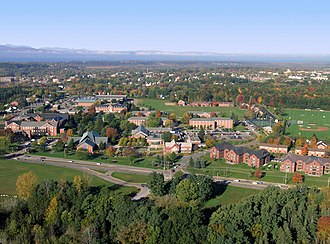 Saint Michael's College - Aerial shot of main campus
