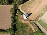 Aerial view of Nicolle Tower in St Clement, Jersey.jpg