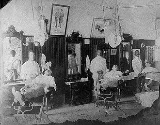 Aberdeen, Mississippi - Barbershop in Aberdeen, 1907
