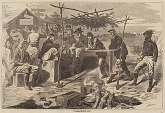 After Winslow Homer, Thanksgiving in Camp, published 1862, National Gallery of Art After Winslow Homer, Thanksgiving in Camp, published 1862, NGA 45618.jpg