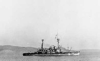 Armistice of Mudros - HMS ''Agamemnon'' on an earlier visit to Mudros during the Dardanelles campaign in 1915