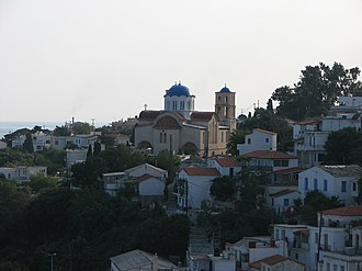 Icaria - View of Agios Kirykos, Ikaria's capital