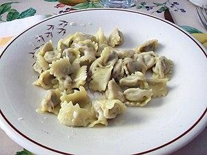 Agnolotti - Homemade agnolotti al plin (pinched).